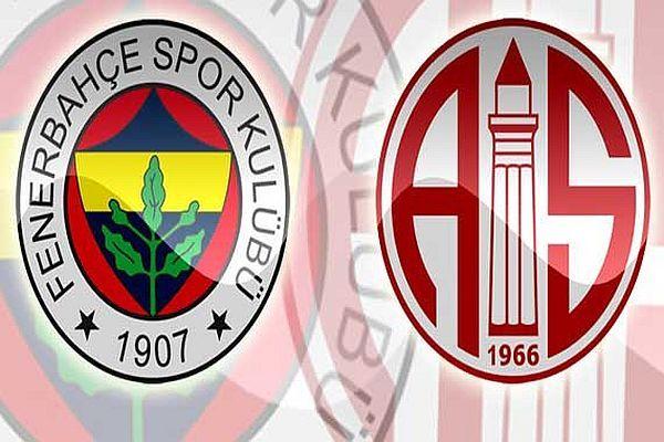 Fenerbahçe 2 Antalyaspor 1 ilk yarı sona erdi