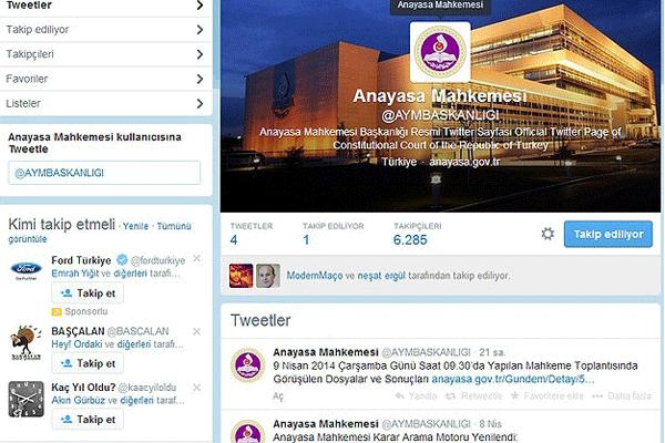 Anasaya Mahkemesi Twitter hesabı açtı