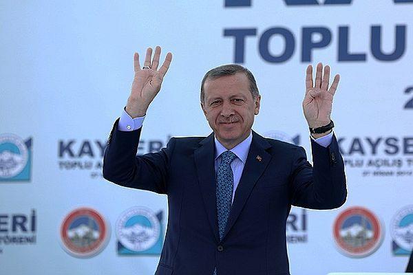 Başbakan Erdoğan Kayseri'de halka hitap etti