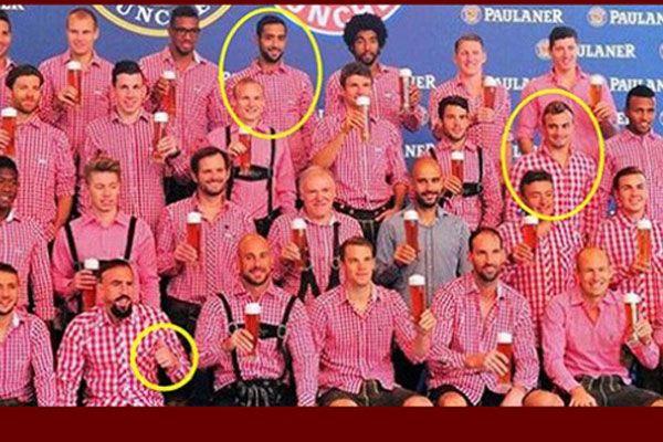Bayern'li 3 Müslüman futbolcu bu pozu vermeyi reddetti