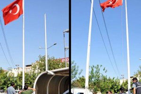 İkinci Türk bayrağı indirme vakası son anda önlendi