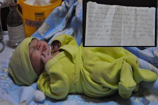 1 haftalık bebeğini terk etti! Bıraktığı not ise yürek dağladı