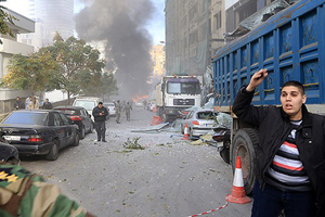Beyrut'ta bomba yüklü araç infilak etti