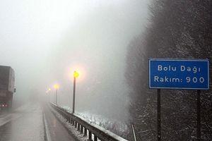 Bolu Dağı'nda kar yağışı uyarısı
