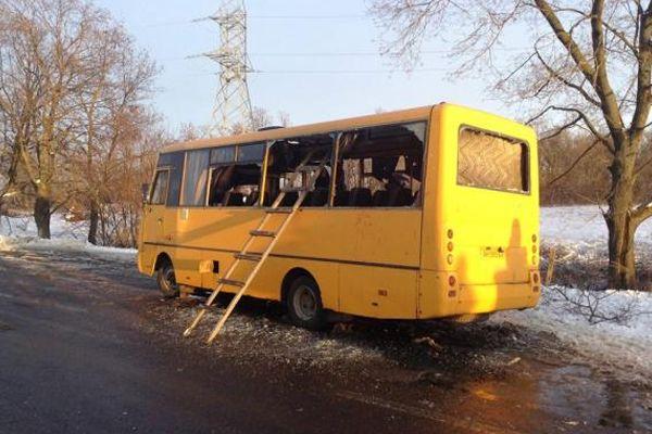 Ukrayna'da yolcu otobüsüne füze saldırısı, 10 ölü