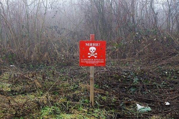 Bosna Hersek'te selden etkilenen mayın patladı