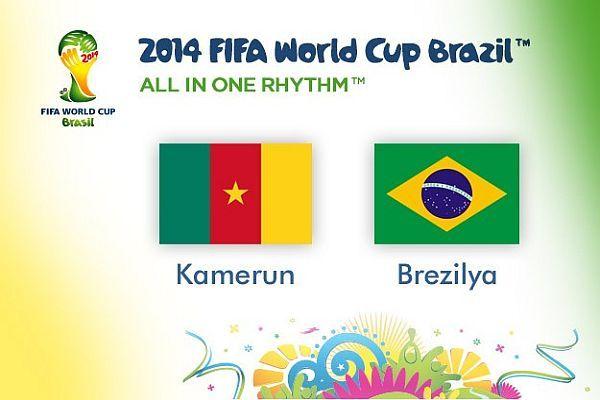 Brezilya, Kamerun'u 4-1 yendi