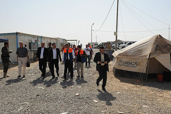 AFAD'dan Türkmenlere 20 bin kişilik çadır kent