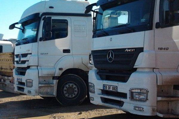 Yüksek tonajlı kamyonlara ceza