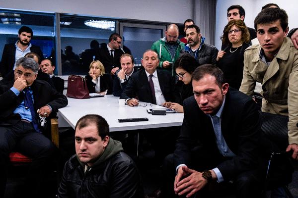 30 Mart gecesi CHP Genel Merkezi'ni gösteren fotoğraf