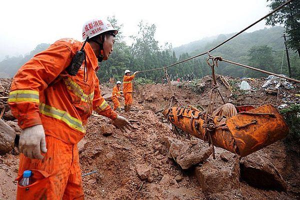 Çin'de heyelan felaketi