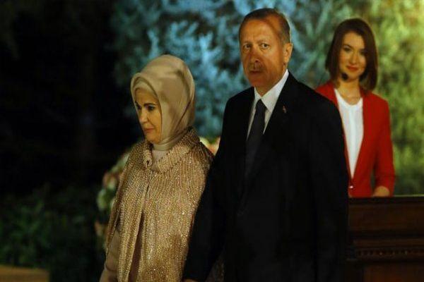 Cumhurbaşkanı Erdoğan'ın Köşk'teki ilk resepsiyonu