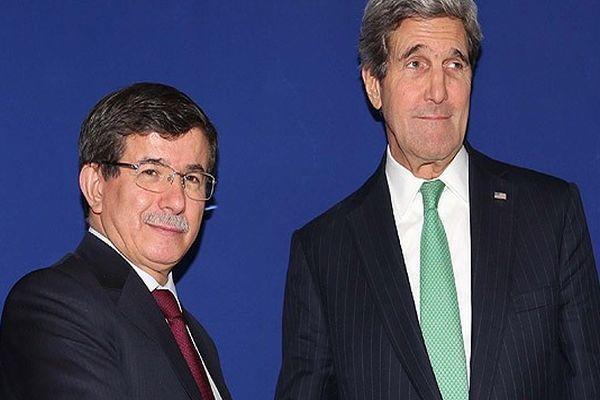 Davutoğlu, Kerry ve Ashton ile görüştü