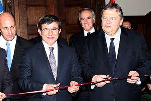 Davutoğlu yeni büyükelçilik binasının açılışını yaptı