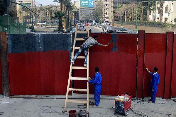 Mısır'da Kasru'l-Ayni Caddesi demir kapılarla kapatıldı