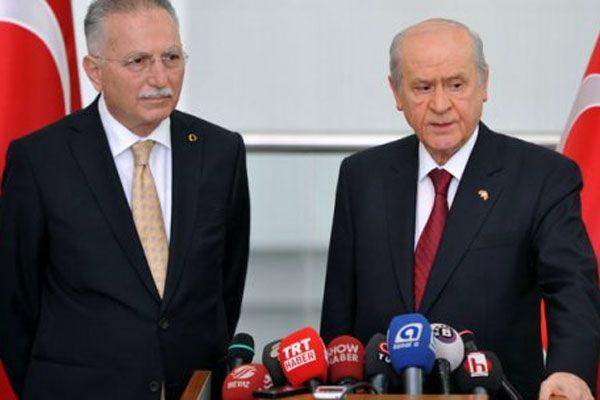 Ekmeleddin İhsanoğlu Devlet Bahçeli ile görüştü