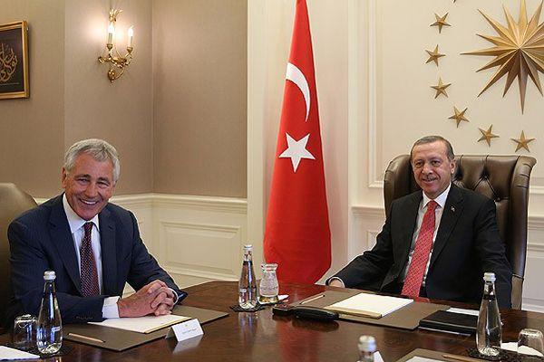 Cumhurbaşkanı Erdoğan Hagel'i kabul etti