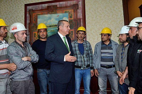 Başbakan Erdoğan maden işçileriyle görüştü