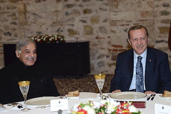 Başbakan Erdoğan Şahbaz Şerif'le görüştü