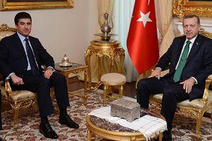 Erdoğan, IKBY Başbakanı Barzani'yi kabul etti