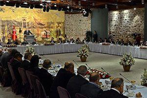 Erdoğan, gazeteci ve yazarlarla buluştu