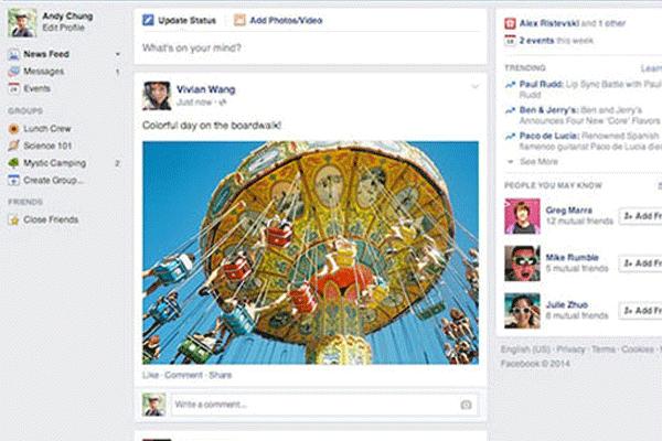 Facebook tasarımını yeniliyor