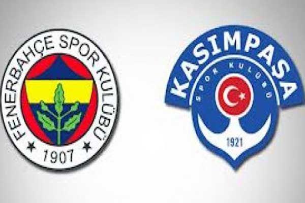 Fenerbahçe Kasımpaşa maçının ilk 11'i belli oldu