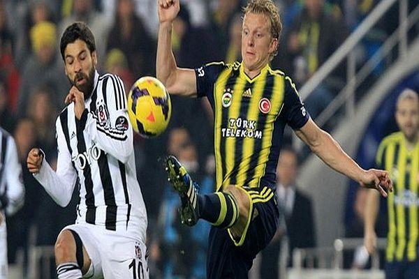 Beşiktaş 1 Fenerbahçe 1 ilk yarı sona erdi BJK-FB