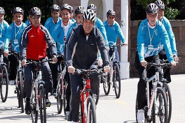 Cumhurbaşkanı Gül pedal çevirdi