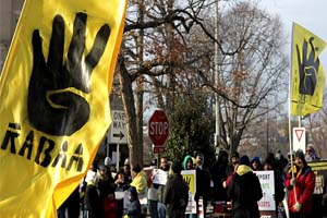 Mısır'daki darbe, ABD'de protesto edildi
