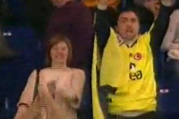 Galatasaray maçındaki Fenerbahçeli taraftar günün konusu oldu