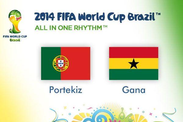 Portekiz Gana'yı devirdi ama yetmedi Portekiz Gana maç sonucu