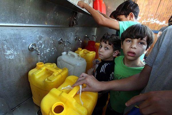 Gazzeliler salgın hastalık riskiyle karşı karşıya