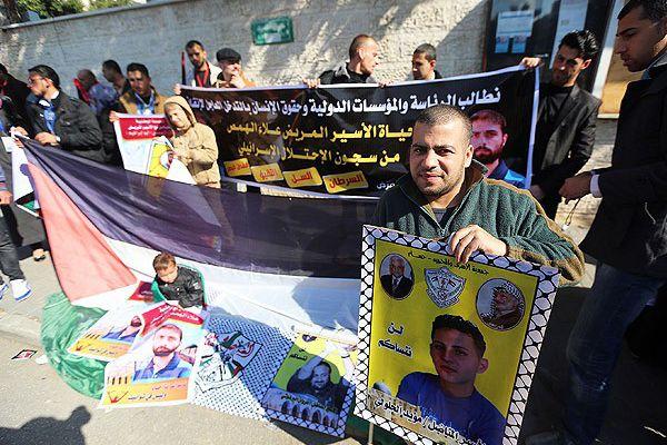 Filistinli tutuklularının serbest bırakılması için gösteri yaptılar