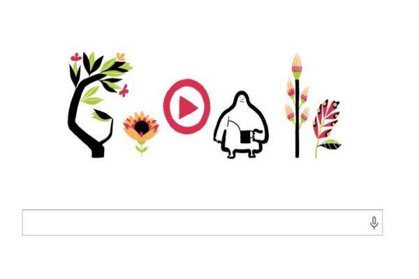 Google'dan, 'ilkbahara özel doodle'