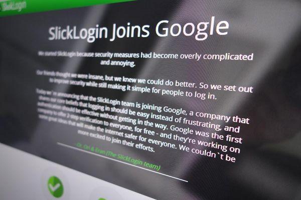 SlickLogin firmasını, Google satın aldı