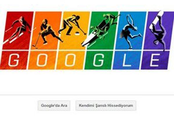 Google'ın Yeni Doodle'ı Kış Olimpiyatlarına Özel