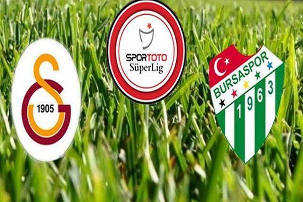 Galatasaray Bursaspor maçı ilk yarı sonucu