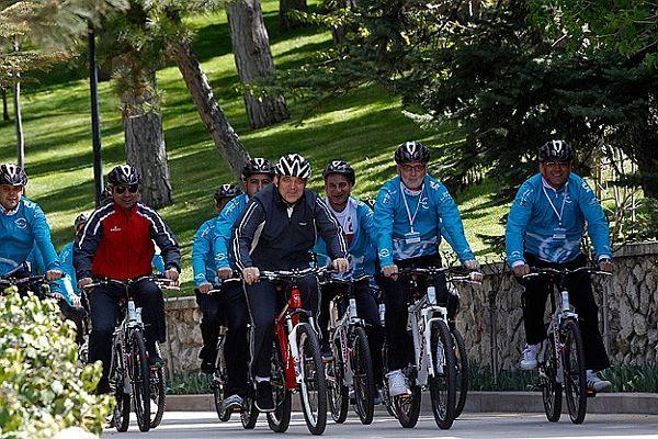 Cumhurbaşkanı Abdullah Gül pedal çevirdi