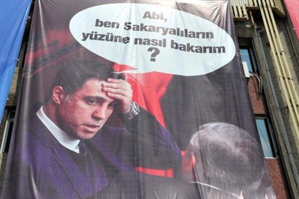 Erdoğan'ın mitinginde Hakan Şükür'e pankartlı gönderme