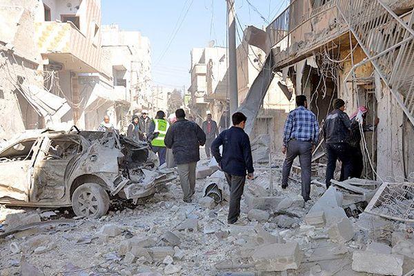 Halep'e varil bombalı saldırı, 21 ölü