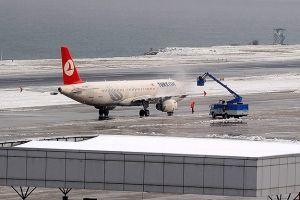 Havalimanları kışa hazır hale getirldi