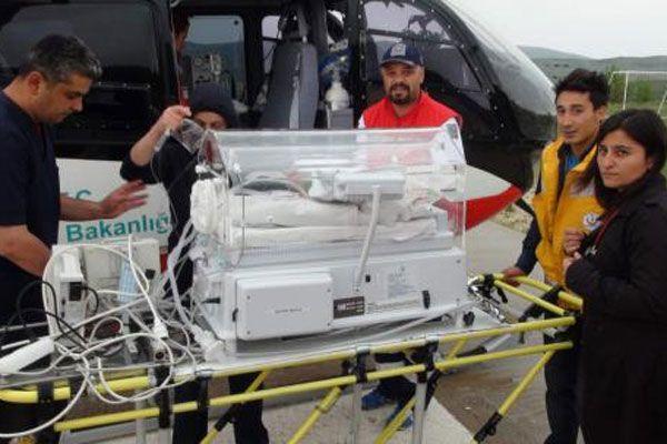 Hava ambulans hayat kurtarmaya devam ediyor