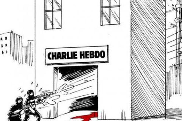 Karikatürist Carlos Latuff Paris'teki saldırıyı çizdi