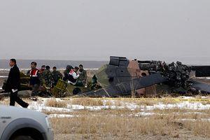 Askeri helikopter düştü, 4 asker şehit oldu