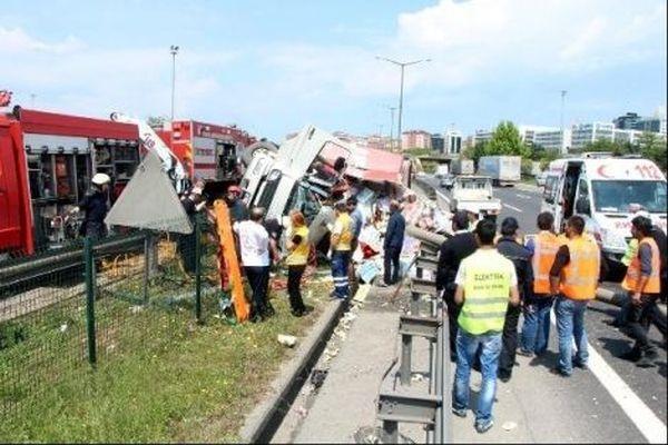 İstanbul TEM Otoyolu'nda trafik felç oldu
