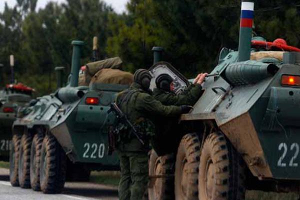 Rus askerleri kontrolü ele geçirdi