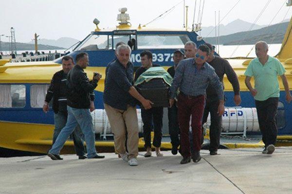 Yunan askerleri tarafından öldürülen kaptanın cenazesi getirildi