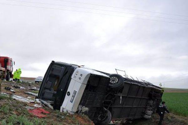 Kayseri'de inanılmaz kaza, 38 yaralı