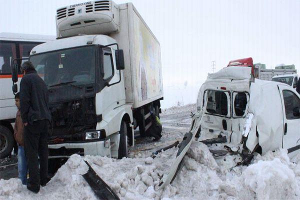 Eskişehir'de zincirleme trafik kazası, 43 yaralı
